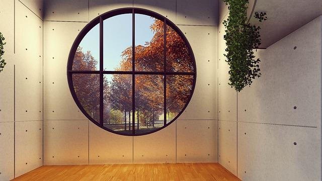 skleněná stěna